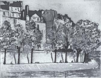 Springtime in Paris, 18 X 15 cm