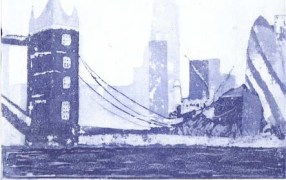 Thameside, 18x24cm, £80 unframed